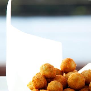Crispy Pea And Mint Risotto Balls.