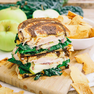 Roasted Sweet Potato Apple Ham Sandwich.