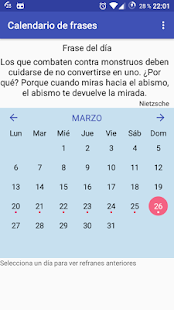 Calendario de frases - náhled