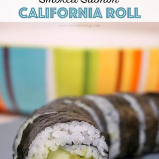 Easy Smoked Salmon California Roll