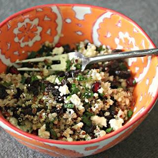 Quinoa Salad with Dried Tart Cherries, Mint, and Feta in Lemon-Sumac Vinaigrette Recipe