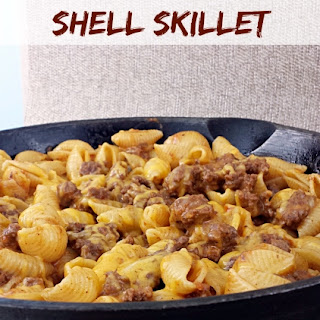Quick Cheesy Taco Shell Skillet.