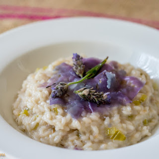 Creamy Risotto with lavender cheese