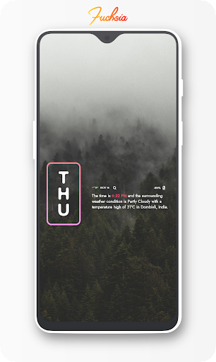 Screenshot for Fuchsia KWGT - Gradient Based Widgets in United States Play Store