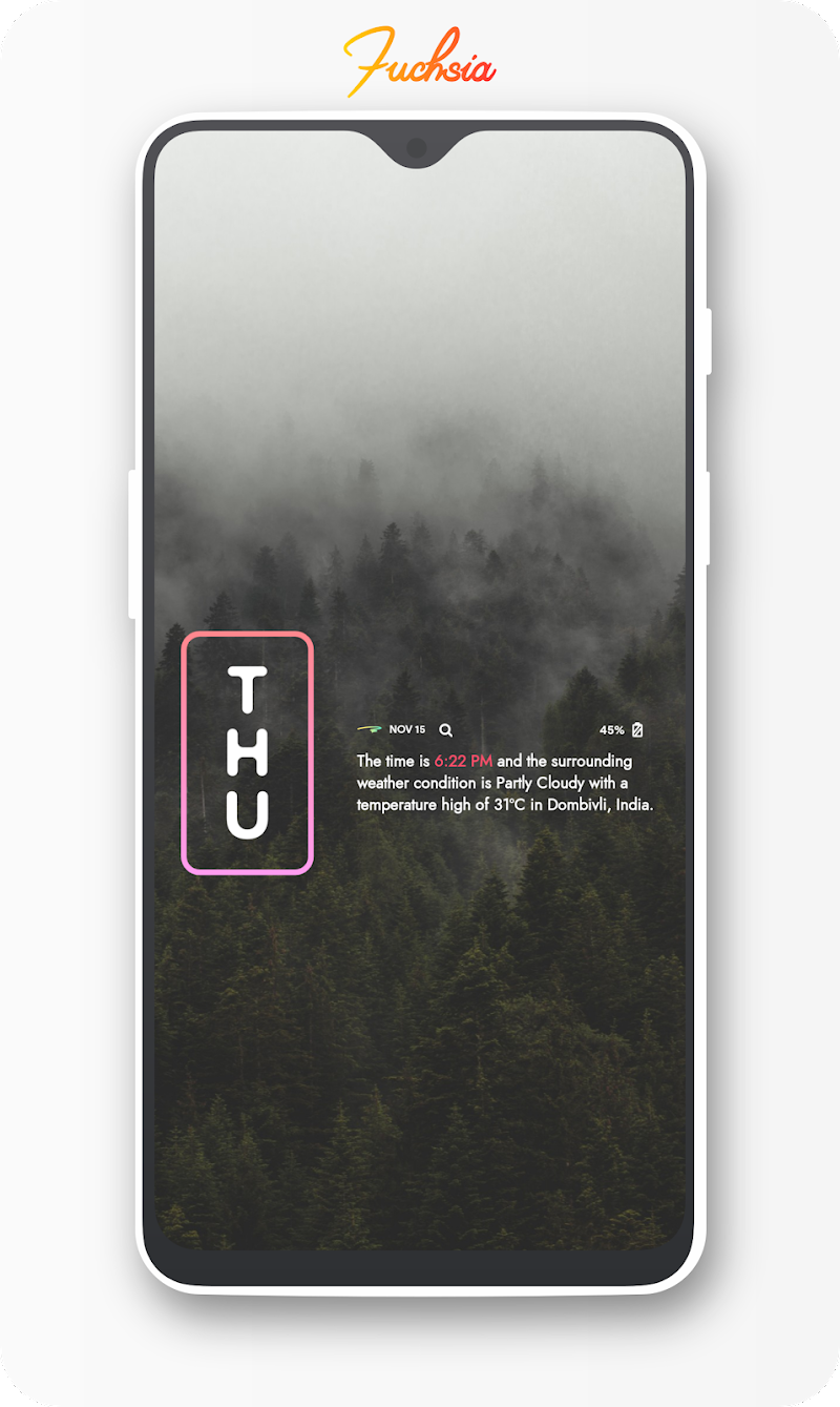 Fuchsia KWGT - Gradient Based Widgets Screenshot 9