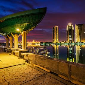 Penantian  by Najmi Rooslan - Travel Locations Landmarks ( gnd, lee, blue hour, uwa, selangor, putrajaya, sunset, malaysia, nikon, tokina, city )