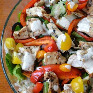 Chicken Fajita Salad with Chipotle Ranch Recipe