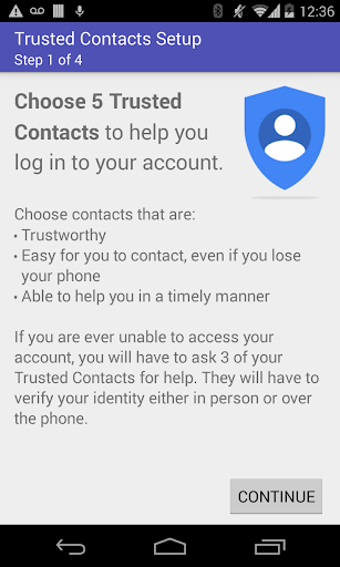 Trusted Contacts Study App