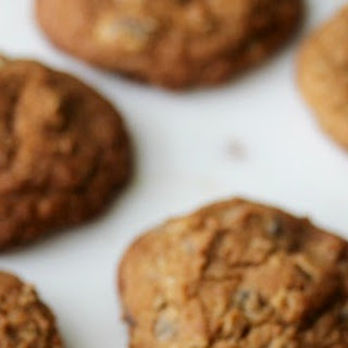Oatmeal Chocolate Chip and Coconut Whole Grain Cookies.