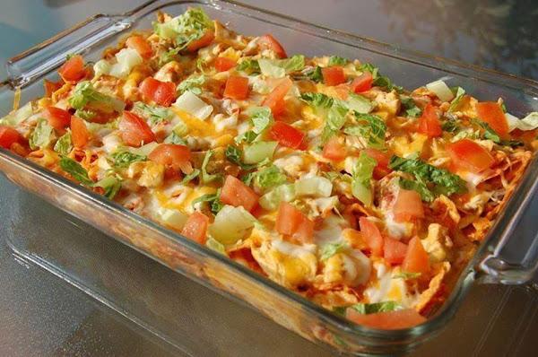Cheesy Chicken Mexican Doritos Casserole! Recipe