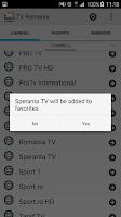 Screenshot of TV Romania