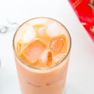 Thai Iced Tea with Milk.