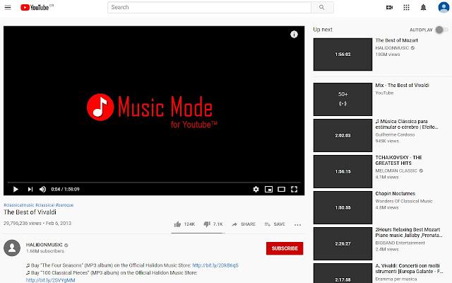 Music Mode for Youtube™