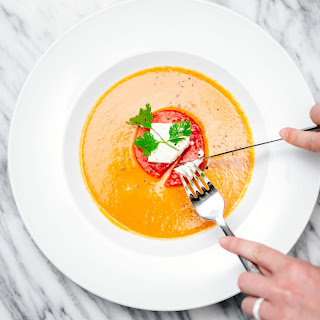 Watermelon Gazpacho with Sheep Milk Feta and Cilantro Recipe