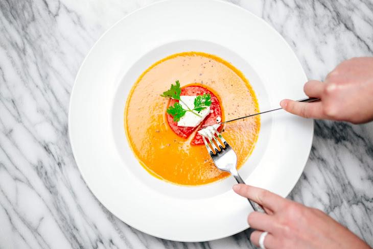 Watermelon Gazpacho with Sheep Milk Feta and Cilantro Recipe