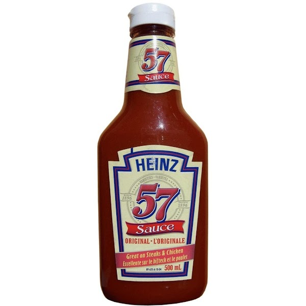 Pour Heinz  57 over the top and sides.