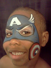 Photo: Captain America face paint by Teressa, Santa Ana, Ca.Call to booked Teressa for your next event: 888-750-7024