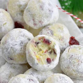Cranberry Pistachio White Chocolate Truffles.