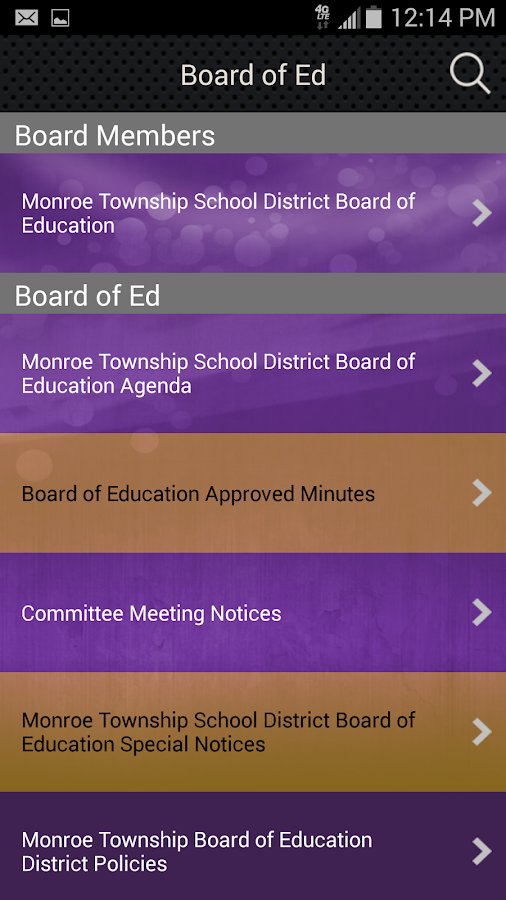 Monroe Twp School District- screenshot