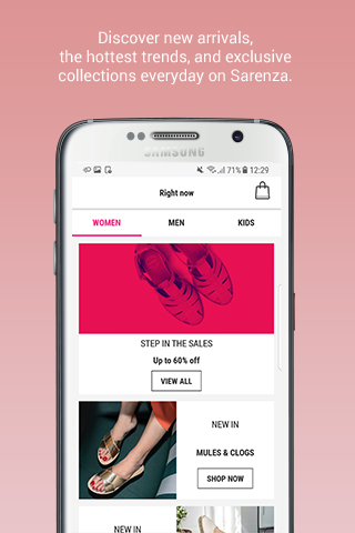 Sarenza - shoes & bags Android App Screenshot