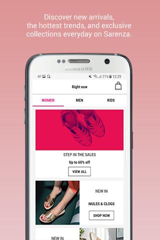 Sarenza - shoes & bags Android App Screenshot