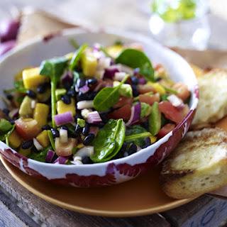 Avocado and Mango Salad with Mozzarella Bread