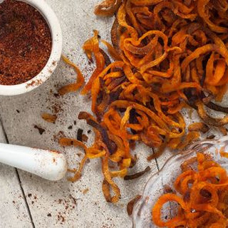 Sweet Potato Curly Fries with Barbecue Seasoning Recipe