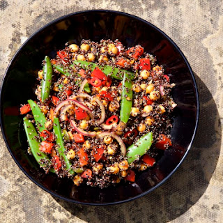 Black Quinoa and Spiced Chickpea Salad