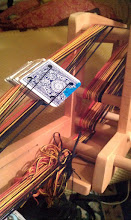 Photo: Late night accomplishment: Half the new warp is on the loom. Woot!