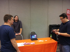 Photo: At the Ubuntu Booth at Ohio Linuxfest