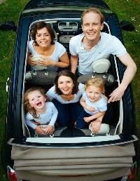 Family, People, Car, Looking, Children, Man, Woman