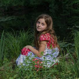 Fair Maiden by Chris Cavallo - Babies & Children Child Portraits ( child photography, pond, maine, child portrait, childhood, girl,  )