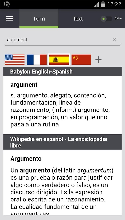 Babylon Translator- screenshot