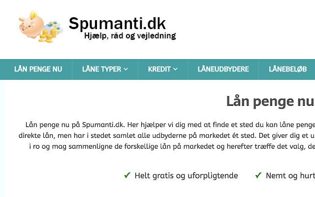 Spumanti.dk - Lån Penge Nu