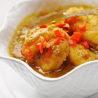 Coconut Prawn Curry.