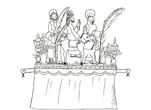 Photo: trono domingo ramos