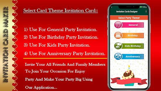 Invitation card maker programme op google play skermkiekieprent stopboris Choice Image