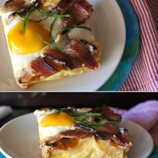 Buttermilk Baked French Toast Recipe, + a Side of Bacon and Eggs