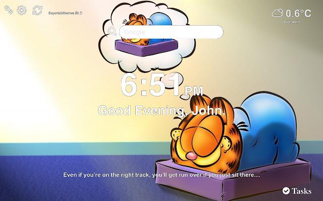 Garfield HD Wallpaper Tab Theme