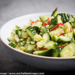 Smashed Cucumber Salad.