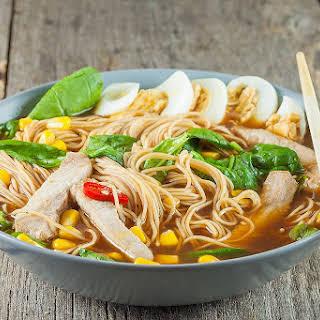 Pork Ramen Noodle Soup.