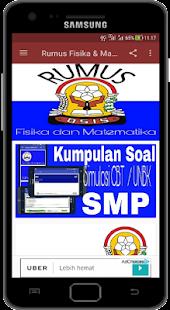 Rumus Fisika dan Matematika SMP / MTS - náhled