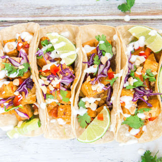 Thai Red Curry Tofu Tacos [Vegan]