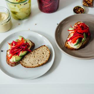 Pickled Veggie Sandwiches.