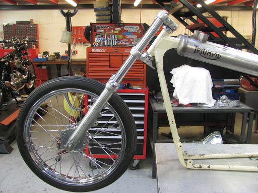 Le Drag de Nico en cours de réalisation dans les ateliers Machines et Moteurs.