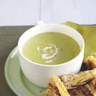 Potato Lima Bean Soup with Grilled Cheese Sandwiches