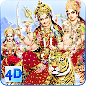4D Maa Durga Live Wallpaper