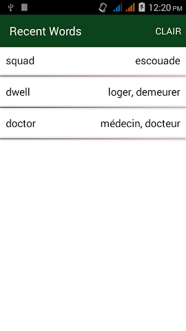 android English To French Dictionary Screenshot 4