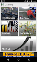 Screenshot of Louisville Traffic from WHAS11
