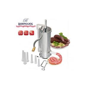 Masina verticala pentru umplut carnati 5 kg, Inox, Bohmann BH 02-550